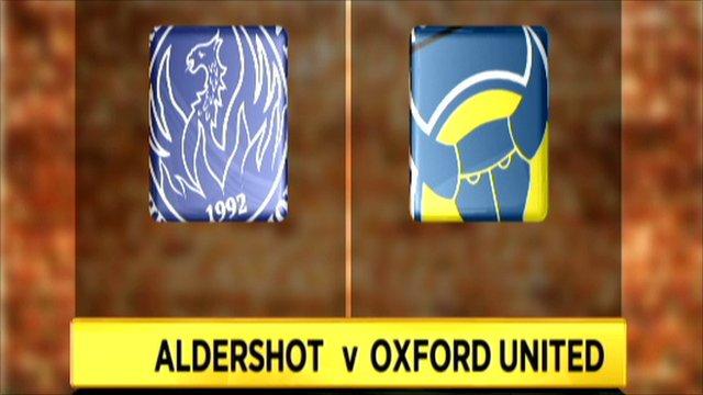 Aldershot 2-0 Oxford Utd