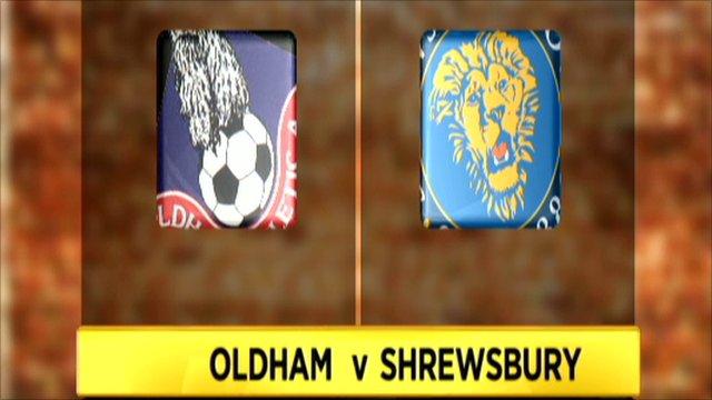 Oldham 0-1 Shrewsbury