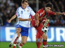Njazi Kuqi in action against Germany in 2008