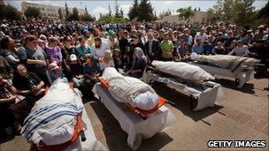 Funeral of killed Israelis