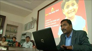 Girish Lad, founder and CEO of Magnum Opus, meets doctors in Kolhapur district, Maharashtra