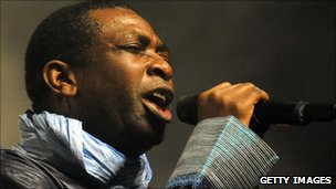 Youssou N'dour performs in Morocco in Feb 2010