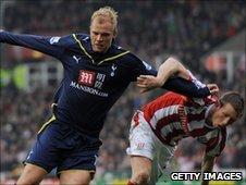 Stoke forward Eidur Gudjohnsen