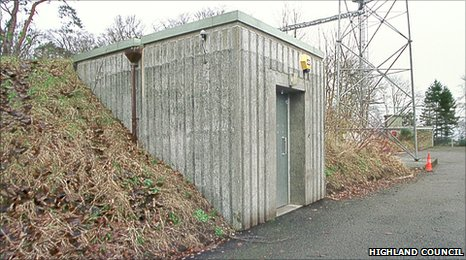 Exterior of the Bunker in Inverness