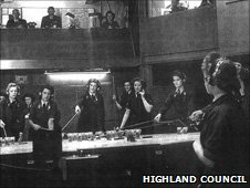 A plotter room, photo courtesy of Highland Council