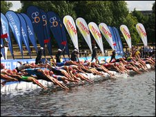 Triathlon at Hyde Park