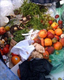 Discarded fruit and vegetables