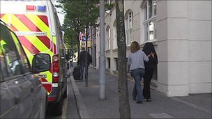 The women were rescued from city centre apartments