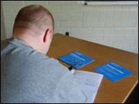 A prisoner reading through current account literature