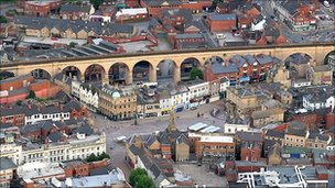 Mansfield town centre - photo courtesy Robin Macey