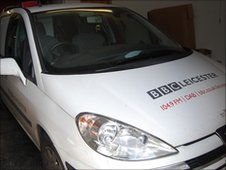 BBC Leicester radio car