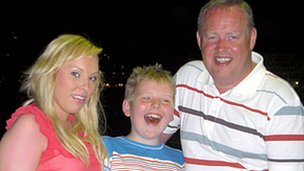 Tom Gaughan with daughter and son