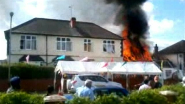 The fire at the Hare Krishna temple