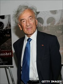 Nobel Prize winning laureate and Holocaust survivor, Elie Wiesel