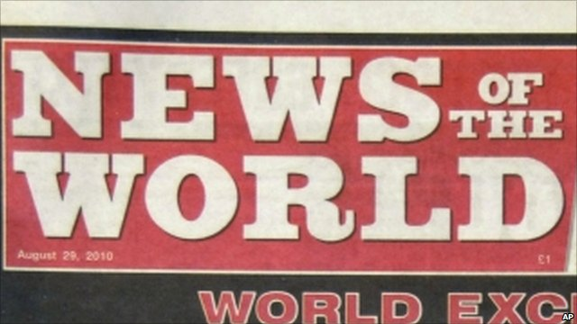 News of the World masthead