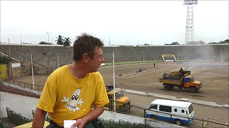 Andy Kershaw looking out over the stadium