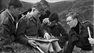 Children in 1949 on Outward Bound in Aberdyfi