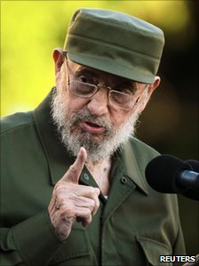 Fidel Castro at Havana University (3 September 2010)