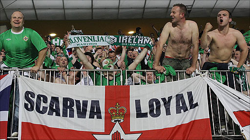 Northern Ireland fans in Slovenia