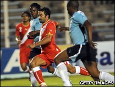 Action from Botswana's win over Tunisia