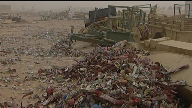 A junkyard in Iraq