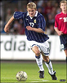 Darren Fletcher made his debut for Scotland in 2003
