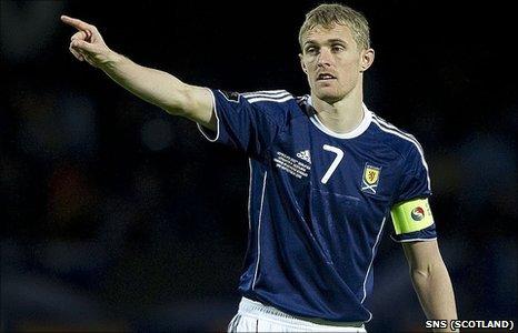 Scotland captain Darren Fletcher