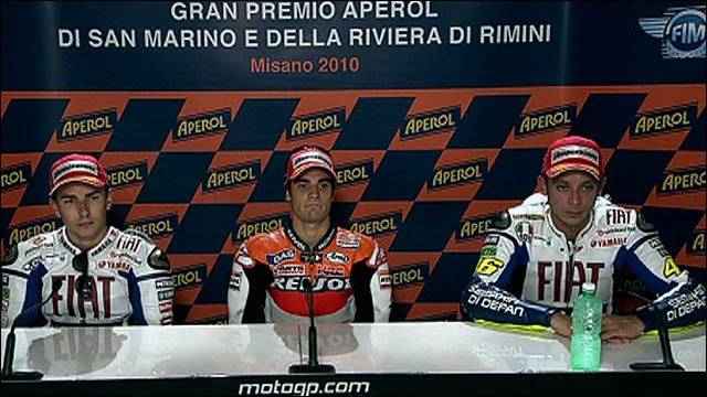 Jorge Lorenzo, Dani Pedrosa and Valentino Rossi