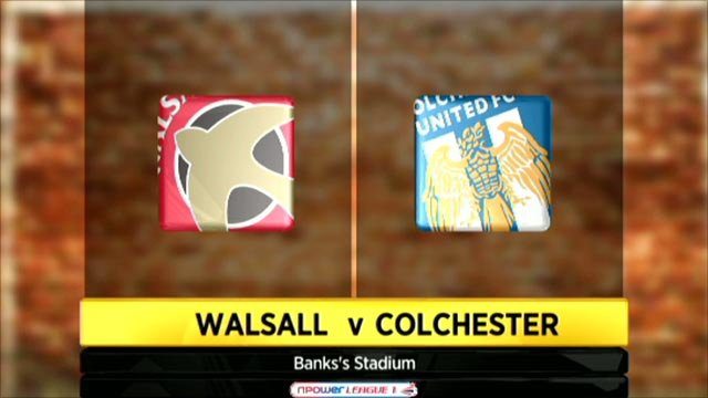 Walsall 0-1 Colchester