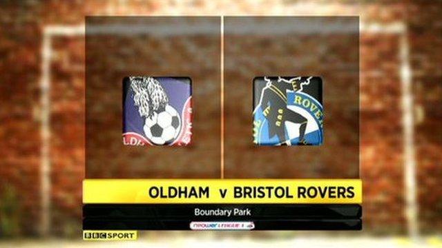 Oldham 1-1 Bristol Rovers