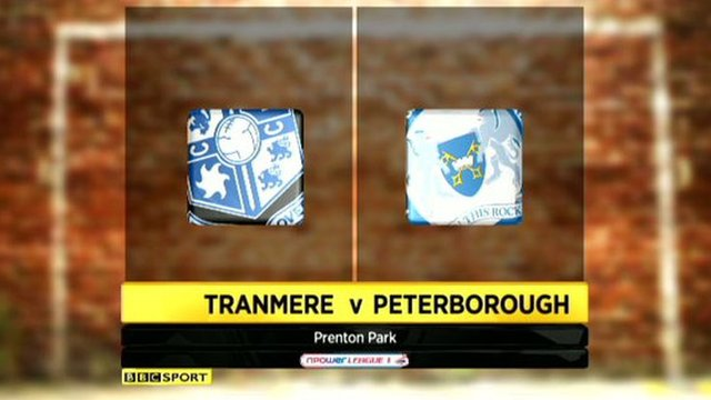 Tranmere Rovers 1-0 Peterborough United