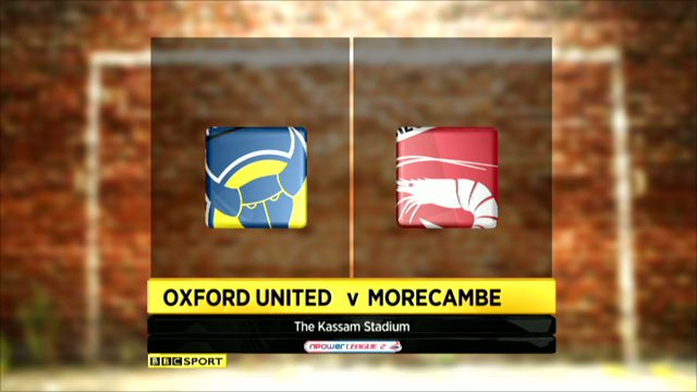 Oxford United 4-0 Morecambe