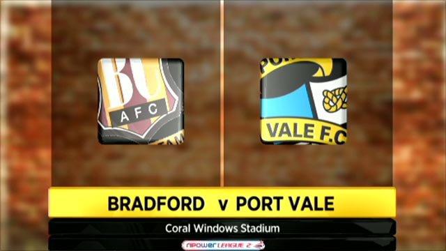 Bradford 0-2 Port Vale