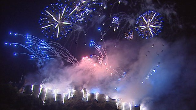 Fireworks above Edinburgh Castle