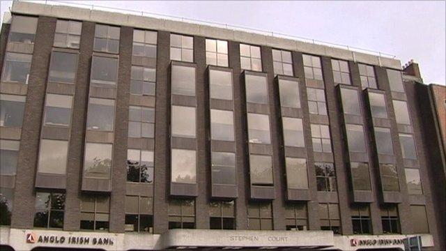 The headquarters of Anglo Irish bank