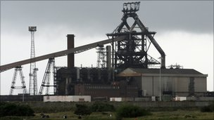 Corus steel works in Redcar