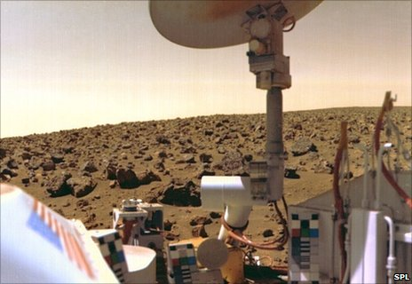 Viking lander on Mars