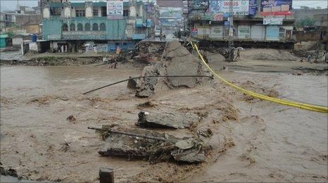 Flooding at Mingora in Pakistan