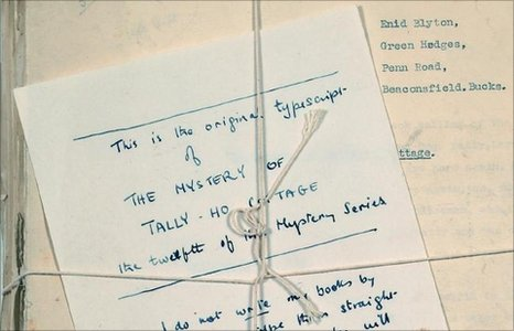 Manuscript for the Mystery of Tally Ho Cottage by Enid Blyton