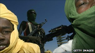 Members of the Sudanese Liberation Army (Getty Images)