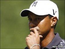 Tiger Woods at the Deutsche Bank Championship in Boston