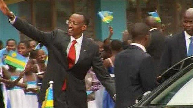 Newly re-elected Rwandan President Paul Kagame