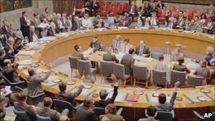 Library picture of UN Security Council (Image: AP)