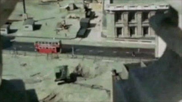 London street scene during the Blitz