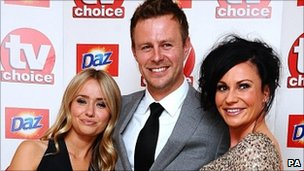 Sammy Winward, Tom Lister and Lucy Pargeter from Emmerdale