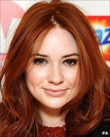 Karen Gillan arrives for the 2010 TV Choice awards
