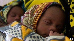 Underweight twins at Nyangao Hospital in Lindi, Tanzania