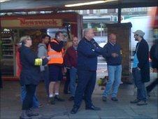 Bob Crow at Kings Cross