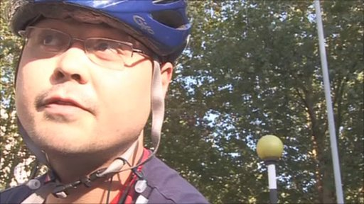 Cyclist talks about his journey to work during the Tube strike