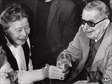 French philosophers Jean-Paul Sartre and Simone de Beauvoir